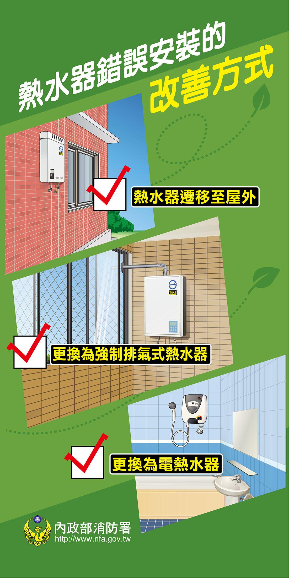 熱水器錯誤安裝的改善方式