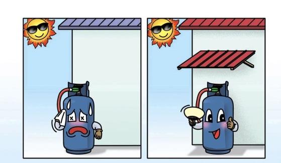 容器避免日光直射