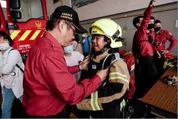 小消防員體驗服裝
