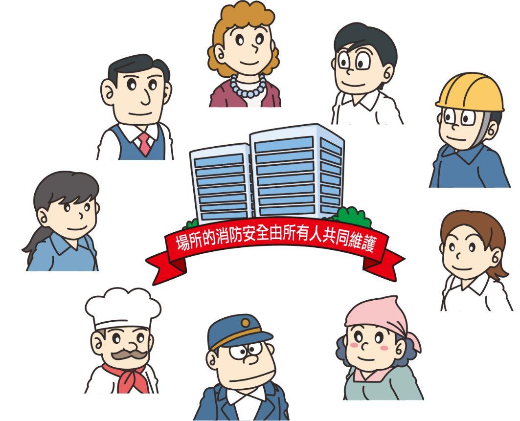 場所內的消防安全由所有人共同維護